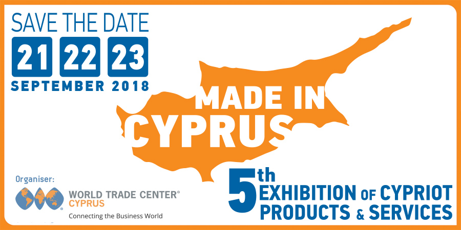 Press Release - 5th Made in Cyprus Exhibition 21-23 Sept 2018